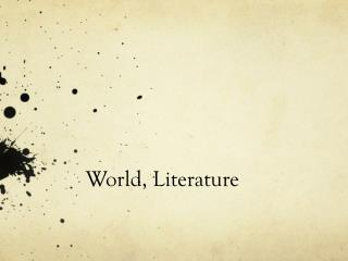 World, Literature