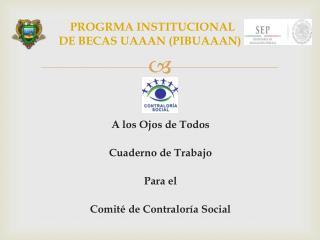 PROGRMA INSTITUCIONAL  DE BECAS UAAAN (PIBUAAAN)