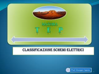 CLASSIFICAZIONE SCHEMI ELETTRICI