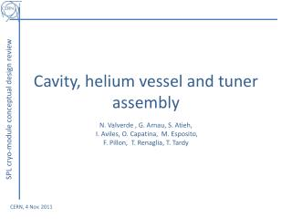 Cavity, helium vessel and tuner assembly
