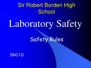 Sir Robert Borden High School