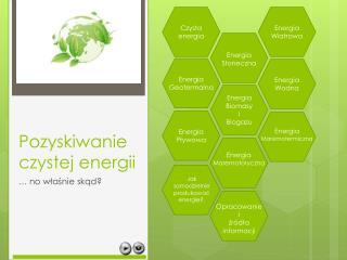 Pozyskiwanie czystej energii