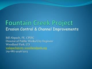 Fountain Creek Project