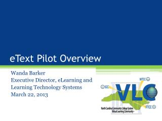 eText Pilot Overview