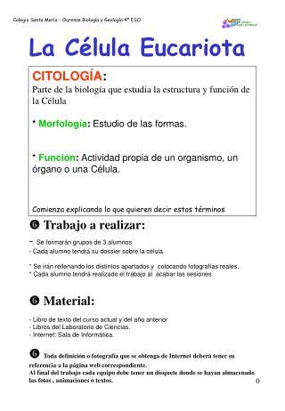 Colegio Santa Mar a - Ourense Biolog a y Geolog a 4  ESO
