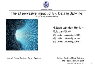 The all pervasive impact of Big Data in daily life From Causality to Correlation