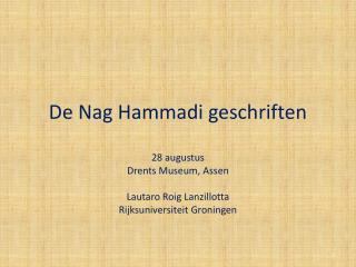 De  Nag  Hammadi geschriften