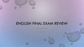 English Final Exam Review