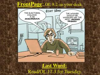 FrontPage :  OL 8.2 on your desk.