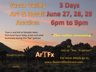 Yucca Valley Art & Retail  Auction