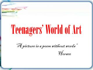 Teenagers' World of Art