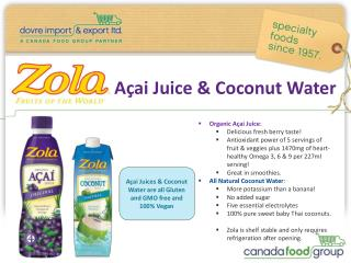 Açai  Juice & Coconut Water