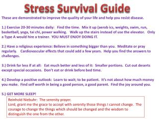 Stress Survival Guide