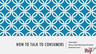 How to talk to consumers
