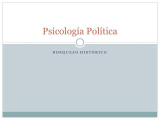 Psicolog�a Pol�tica