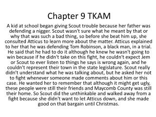 Chapter 9 TKAM