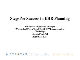 Steps for Success in EHR Planning