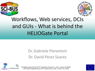 Workflows, Web services, DCIs and GUIs - What is behind the  HELIOGate  Portal