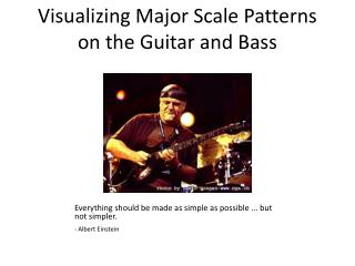 Visualizing Major Scale Patterns on the Guitar and Bass