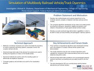 Simulation of  Multibody  Railroad Vehicle/Track  Dyanmics