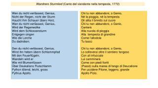 Wandrers Sturmlied (Canto del viandante nella tempesta, 1772)
