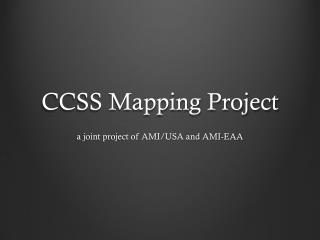 CCSS Mapping Project