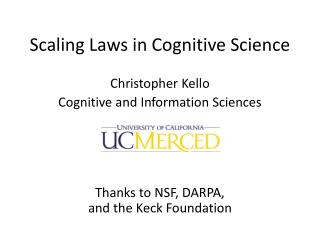 Scaling Laws in Cognitive Science