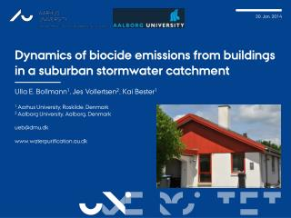 Dynamics of biocide emissions from buildings  i n  a suburban stormwater catchment