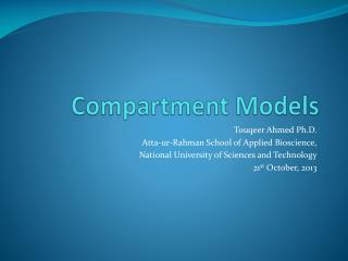 Compartment Models