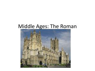 Middle Ages: The Roman Catholic Church