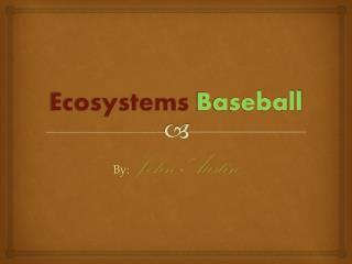 Ecosystems  Baseball