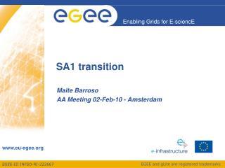 SA1 transition