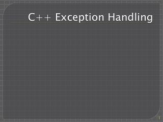 C++ Exception Handling