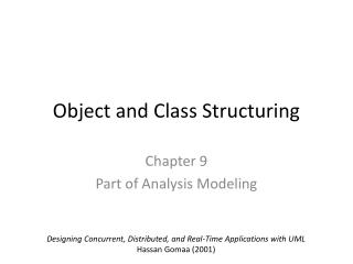 Object and Class Structuring