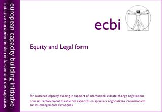 Equity  and Legal form