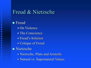 Freud  Nietzsche