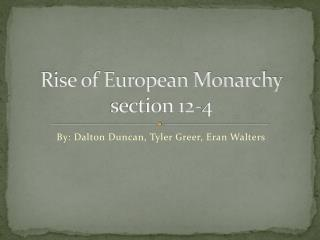 Rise of European Monarchy section 12-4