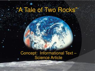 Concept:  Informational Text – Science Article