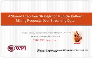 A Shared Execution Strategy for Multiple Pattern Mining Requests Over Streaming Data