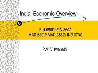 India: Economic Overview