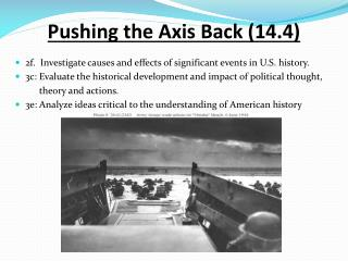 Pushing  the  Axis  Back (14.4)