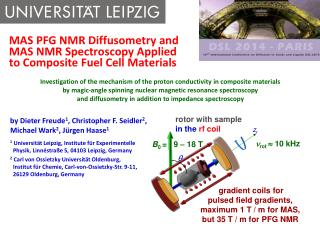 MAS PFG NMR Diffusometry and  MAS  NMR Spectroscopy  Applied  to  Composite Fuel Cell  Materials