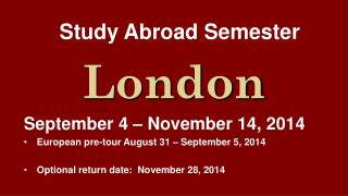 Study Abroad Semester
