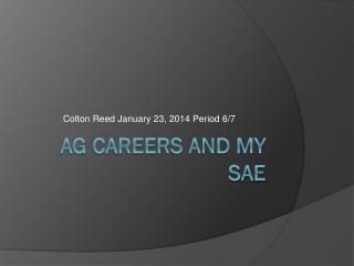 AG Careers And My SAE