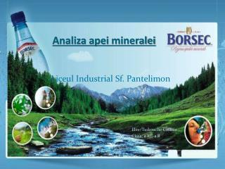 Analiza apei mineralei