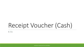 Receipt Voucher (Cash)