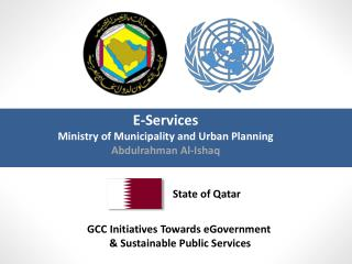 GCC Initiatives Towards  eGovernment & Sustainable Public  Services
