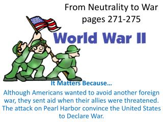 From Neutrality to War pages 271-275