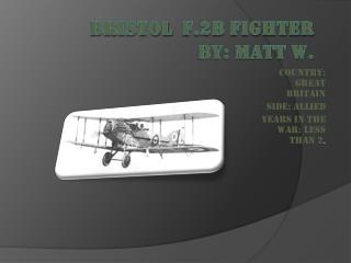 Bristol   f.2b Fighter by: matt w.
