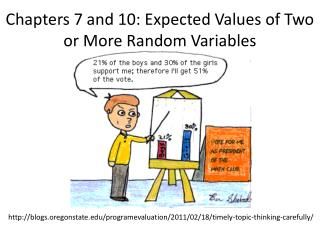 Chapters 7 and 10: Expected Values of Two or More Random Variables